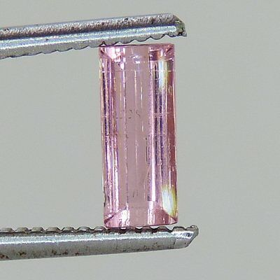 1.2 cts faceted pink Tourmaline baguette cut afghanistan