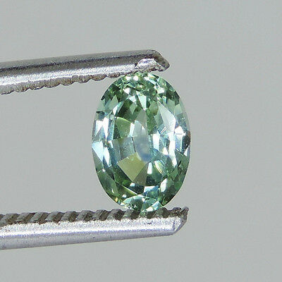 1.05 cts blue green sapphire faceted 5 x 7 mm oval Dry Creek, Montana