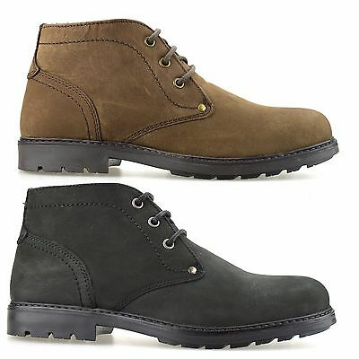 Mens Casual Leather Walking Desert Work Chukka Lace Up Ankle Boots Shoes Size