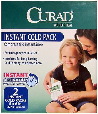 Instant Cold Packs 5 x 6in CURAD 2 packs / box ( 1 box )