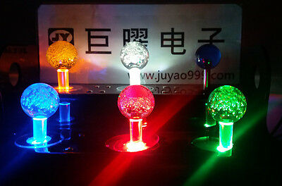 5V single color lighted Illuminated joystick with crystal bobble top ball