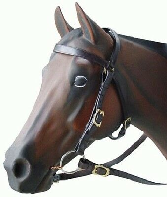 Barcoo Bridle complete with Reins Brass Fittings - Brown - Cob  NEW