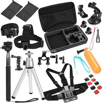 30in 1 Accessoires Support Set pour Gopro Hero 4 3+ Sac Bandeau Monopode Harnais