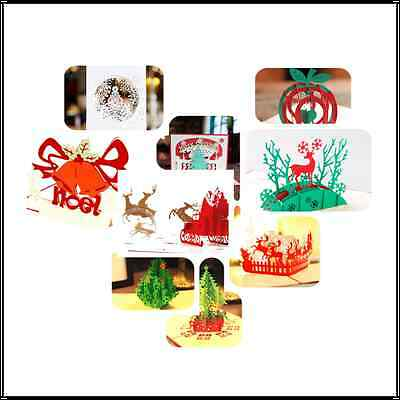 3D Pop Up Holiday Greeting Cards Snowman Jesus Reindeer Christmas Thanksgiving