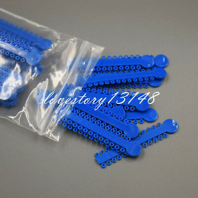 Sales Dental Orthodontics Elastic Elastomeric Blue Color Ligature Ties 1008 Pcs