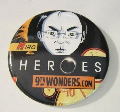 NBC Heroes 9th Wonders Hiro SDCC Comic-Con Promo Pinback Button