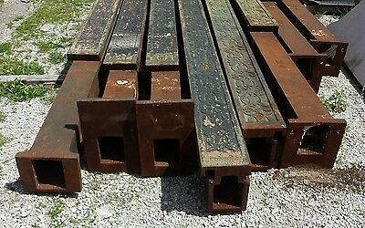Younkers Support Columns (8) Cast Iron Steel Beams Art Deco Architectural