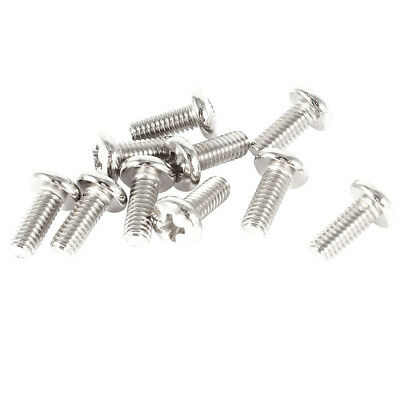 10 Pieces Computer TV LCD Monitor Stand Bracket Mounting Screw M4x10mm F6