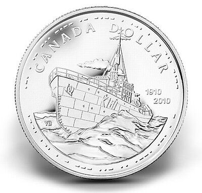 2010 Canada 100Th Anniversary Of The Canadian Navy Proof Silver Dollar