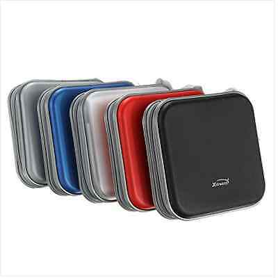 Assorted Colors Portable 34 Disc CD DVD Wallet Storage Case Holder