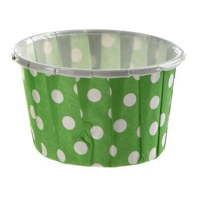 100 X Cupcake Wrapper Paper Cake Case Baking Cups Liner Muffin green F6