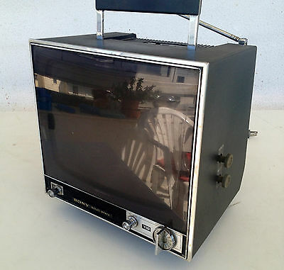 vintage sony TV receiver model TV - 110UWE made in Japan 1977 great condition
