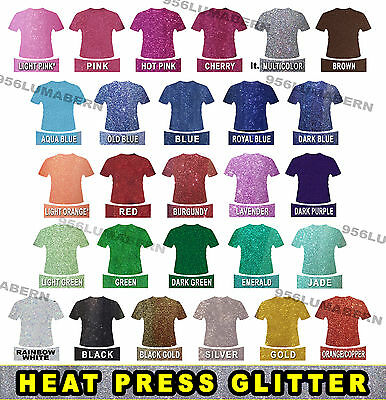 "2 random test sheets 3""x6"" sample glitter Heat Transfer Vinyl press TShirt HTV"