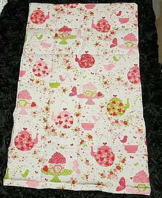 3kg large weighted lap blanket (autism, sensory) tea party print