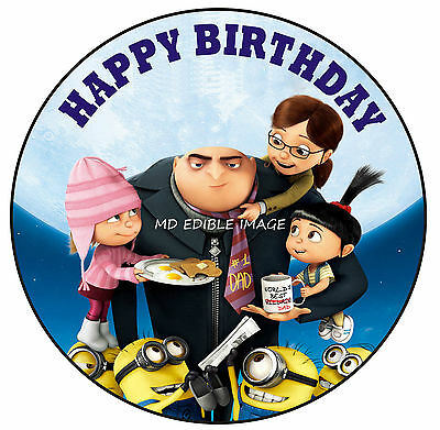 Despicable Me Minions edible image icing sheet birthday party cake topper