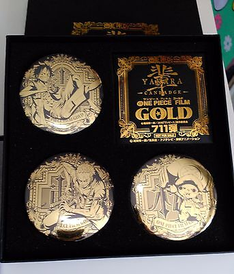 New ONE PIECE FILM GOLD YAKARA Can Badge Four set Limited edition Secret version
