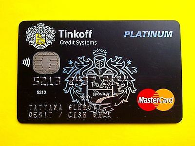Russia Tinkoff Black Mastercard, paypass