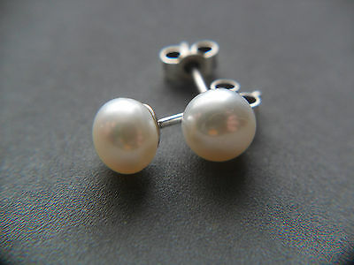 Natural White Pearl Sterling Silver Earrings