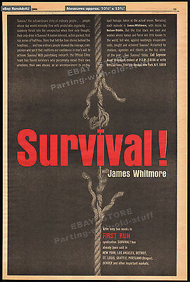 SURVIVAL__Original 1964 Trade AD / poster_TV promo__JAMES WHITMORE_Nelson Riddle
