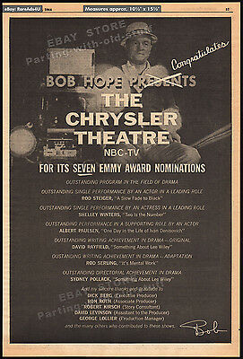 BOB HOPE Presents THE CHRYSLER THEATRE__Original 1964 Trade AD / poster_TV promo