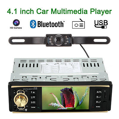 "Double 2 DIN 4.1"" HD Car Radio MP5 Player Bluetooth USB/TF FM Aux In Camera AUS"