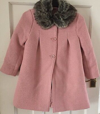 John Lewis Girls Coat in Pink Age 8 - New