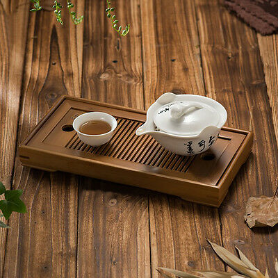 Portable Small Tasteful * Bamboo Gongfu Tea Table Serving Tray 27*14cm Home Y