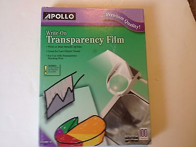 Apollo Write-On Transparency Film Letter Clear 100/Box WO100CB