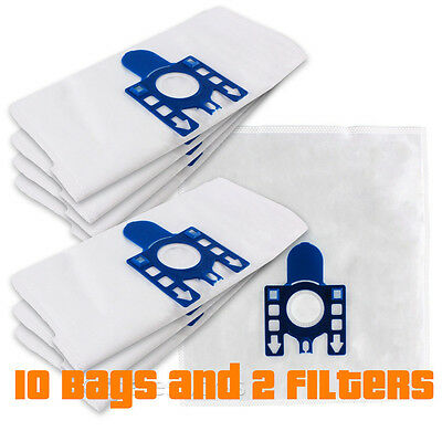 10x Compatible Replacement Miele GN Microfibre Vacuum Bags with 4 Filters