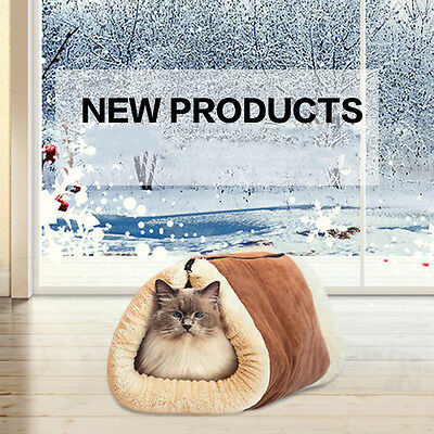 Litière de Chat Animaux Pet Tunnel Sac de Couchage Mat Peluche Cotton Worm Hiver