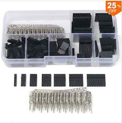 310Pcs 2.54mm Male Female Dupont Wire Jumper With Header Connector Housing Kit