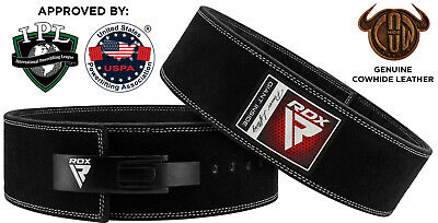 RDX Weight Power Lifting Training Gym Lift Fitness Belt Leather Back Support BR