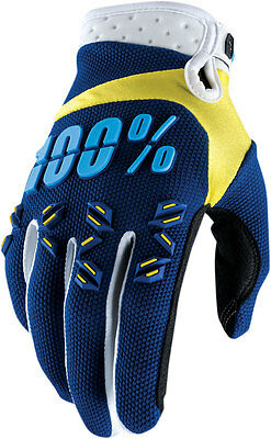 100% MX Motocross AIRMATIC Gloves (Navy/Yellow) Choose Size
