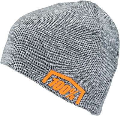 100% MX Motocross ESSENTIAL Beanie/Hat - Acrylic Skully Fit (Charcoal Heather)