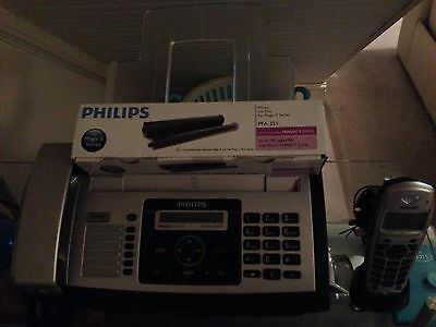 Philips fax + answering machine Magic 5 Eco Voice Dect + extra phone + refill