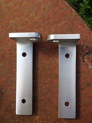 Land Rover TD5, TDCI, Defender. SS bonnet brackets for fitting Aerocatches.