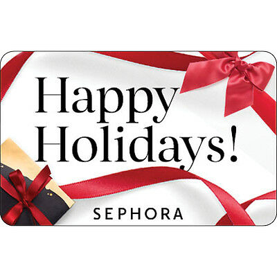 Sephora Gift Card - Happy Holidays - $25 $50 or $100 - Email delivery