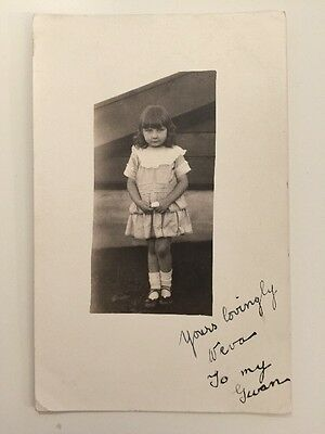 Vintage Postcard - RP Anonymous People - Girl #1