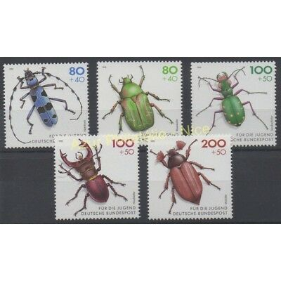 Allemagne - 1993 - No 1497/1501 - Insectes