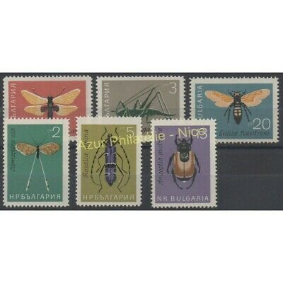 Bulgarie - 1964 - No 1247/1252 - Insectes
