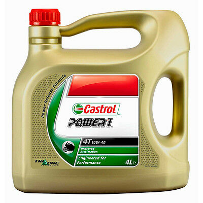 Castrol 15043F Power 1 4T 10W-40 Motorcycle Semi-Synthetic Engine Oil 4L