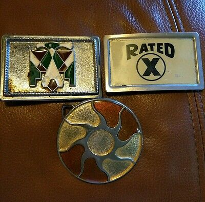 Lot of 3 Vintage Belt Buckle's