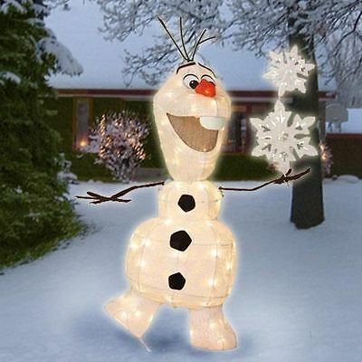 "New 36"" Olaf The Snowman Lighted Disney Frozen Outdoor Yard Christmas"
