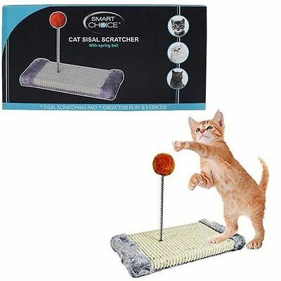 Cat Sisal Scratcher With Spring Play Ball Pet Animal Scratcher Toy 31CM