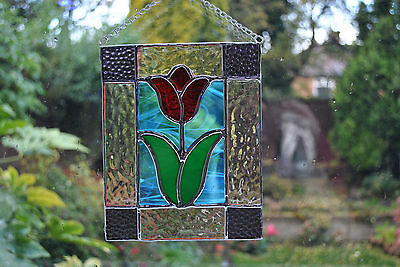 Stained glass window decoration - Tulip Panel