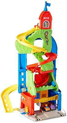 Toddler Toys Fisher Price Sit N Stand Skyway Playset 3 Feet Tall Spiral Ramps