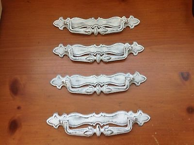 179 VTG French Provincial Swing Pulls In White Shabby Chic! 4 available