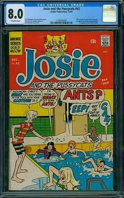 Josie and the Pussycats 45 CGC 8.0 - OW Pages - 1st Pussycats