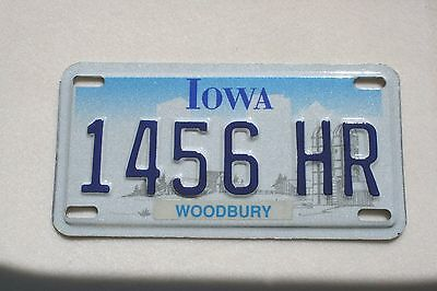 1998 Iowa Motorcycle License Plate