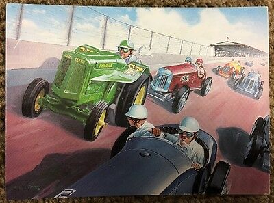John Deere AO Orchard Tractor by Charles Freitag Postcard  FREE Shippig